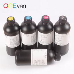 venda por atacado Uma garrafa de tinta macia 500ml, cabeça de impressão impressora UV para luzes LED, R1390 R1800 L800 L1800 Impressora UV A3 / A4UV