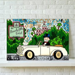 hill art UK - Alec Monopoly Rolls Beverly Hills Hotel , Canvas Pieces Home Decor HD Printed Modern Art Painting on Canvas (Unframed Framed)