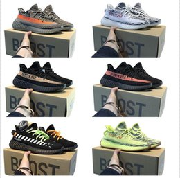 Groihandel 2020 kanye west adidas yeezy boost 350 v2 yeezys chaussures men yecheil scarpe yezzy shoes 3m white black reflective mens women stock x sneakers