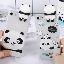 iphone toy case UK - Cgjxs3d Cute Panda Case For Iphone X Iphone 7 8 Plus Case Lovely Toy Panda Cover Silicon For Iphone X 7 6 6 S 6s Plus Cases
