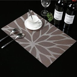table setting placemats Canada - Fyjafon 4 6pieces Table Mats Set Heat Protection Table Mat PVC Oilproof Waterproof Placemats Dining Table Mats Decor Placemat T200415