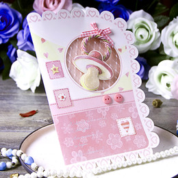 Discount dimensional birthday cards Three-dimensional new birthday card European-style baby full moon invitations Birth ceremony wedding invitations 100-day