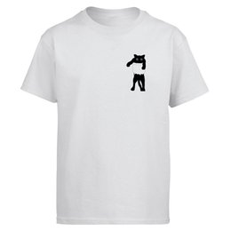 tee shirt cat Australia - Cat Cute Tshirt Men Harajuku T shirt Cartoon Tshirts Summer Cotton Short Sleeve Kawaii T-Shirt Printed Shirts Male Tops Tee