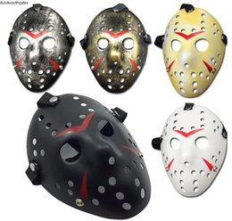 friday 13th jason mask UK - Full Antique Archaistic Face Jason Mask Killer Mask Jason vs Friday The 13th Prop Horror Hockey Halloween Costume Cosplay Mask Z2816