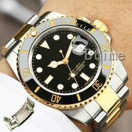 Glide Lock Ceramic Bezel Mens New Men Mechanical SS Automatic Movement Men's Watch Sports Self-wind Fashion designer Watches Wristwatches on Sale