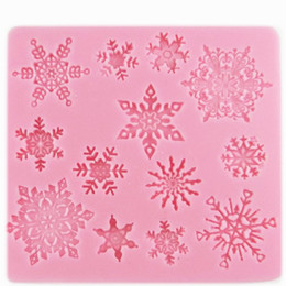 Discount lace chocolate mold 1PC New 3D Durable Snowflake Lace Chocolate Party DIY Fondant Baking Cooking Cake Decorating Tools Silicone Mold
