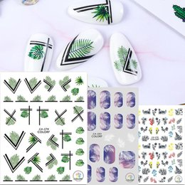 3d sticker flowers 2020 - 1pcs 3D Nail Sticker Leaf Flower Dessert Adhesive Decals Garland Printing Winter Slider Decor Wraps 2020 New discount 3d