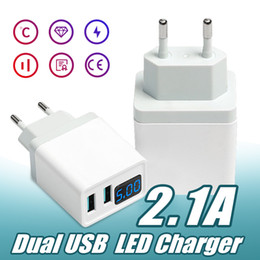 usb wall charger display Australia - Smart LED Charger Smart Display for USB Phone with LED 2.1A Bag Plug Mobile Travel Wall Adapter Compatiable Android Display Charger Opp Orps