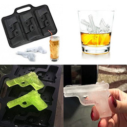 Creative Ice Tray Mould 6 Pistol-shaped Chocolate Cake Ice Lattice Tray Mold Home Party Bar Food Grade Ice Cube Maker Molds VT1523 on Sale