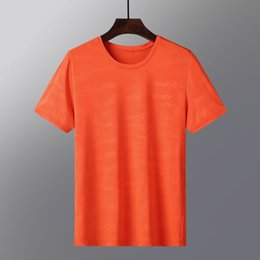 polyester athletic t shirts Australia - New loose and silk short-sleeve quick drying clothes men's top half-women's couple matching plain ice silk T-shirt L athletic T-shirt