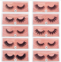 3D Vison Cils gros naturel Faux Cils 3D Mink Lashes douce Make Up Extension Maquillage Faux cils Série 3D