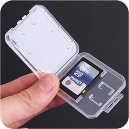 sd memory cards for cameras UK - Sd Card  Tf Memory Card Storage Protection Box Camera Small White Box High -Grade Plastic Transparent Card Cases