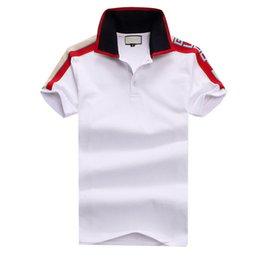 Wholesale design polo shirts for men resale online – 2020 Polo shirt Solid Men Polo Shirts short Sleeve Men s Basic Top Cotton Polos For Boys Design Polo Homme