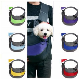 portable dog kennel Australia - Dog Carrier Pet Cat Backpack Reusable Puppies Portable Travel Bag Folding Totes New style Colorful Pet Outdoor Portable Kennel CLS243