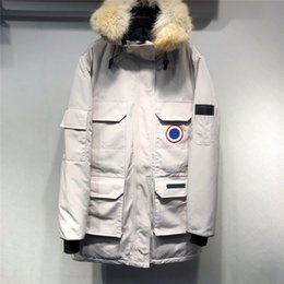 Wholesale jackets expedition for sale – warmest winter 2020 Winter Down Parka Homme Jassen Chaquetas Outerwear Big Fur Hooded Fourrure Manteau Women Down Jacket Expedition Coat Hiver Doudoune