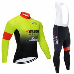 mens long sleeve winter cycling jerseys NZ - Winter 2020 BIESSE TEAM Long sleeves Cycling JERSEY Bike Pants set mens Ropa Ciclismo Thermal Fleece bicycling Maillot Culotte wlnY#