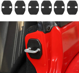 Verrouillage de porte Couvre Garniture de protection pour 2007-2018 Jeep Wrangler JK JKU, Grand Cherokee, Chrysler, Dodge JCuy / Variancy, Calibre, Grand Voager Ram en Solde