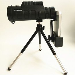 telescope monocular for phone UK - 40*60 Zoom Optical HD Lens Monocular Telescope+ Tripod+ Clip For Universal Phone