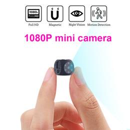 夜の視覚と動きの検出のHD 1080pポータブルミニカメラ屋内屋外の小さなセキュリティカメラが隠されたTFカードをサポート