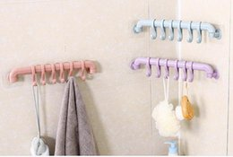 plastic bathroom shelves UK - Free Shipping Creative Kitchen Finishing Household Items Bathroom Bathroom Shelves Free Punching Plastic 6 Even Without Hooks