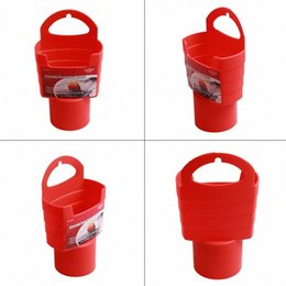 car food boxes UK - 1pc Car French Fries Holder Food Drink Cup Holder Food Grade PP Storage Box Bucket Travel Eat in the car Red   Black 8DU2#