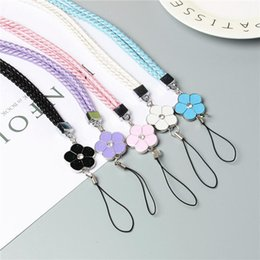 flower lanyards Australia - Cgjxsnew Weaving Flowers Neck Strap Lanyard U Disk Holder Id Work Card Mobile Cell Phone Chain Straps Keychain Hang Rope