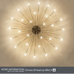 star control UK - Star Chandelier Modern Bedroom Living Room Ceiling Decoration Lighting Fixture Children's Room lamp With G4 LED Bulbs AC110 220V