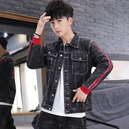 Wholesale sup jacket resale online – Hand Clothing jacketsome SUP men s denim jacket Korean style clothes spring and autumn Korean style trendy new youth jacket men s