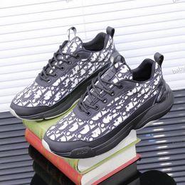 Dior shoes Chaussures Hommes Femmes plus récent en cuir véritable plat Formateurs design camouflage à lacets Chaussures de plate-forme Christian taille hococal 35-46 en Solde