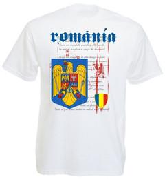 Wholesale romania for sale – custom 2018 Hot Summer Sale Fashion Rumanien T Shirt National Soccers Romania T Shirt Men s Footballer Cotton Tee Shirt For Men