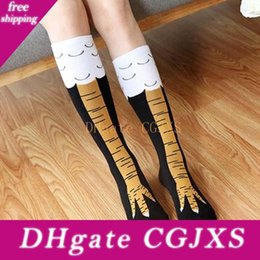 Wholesale chickens foot for sale – custom Creative New Women Chicken Socks With Chicken Print Toe Trendy Women Fashion d Cartoon Thigh High Sale Chicken Toe Feet