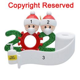 Venta al por mayor de Colgando de cuarentena Partido Cumpleaños de Navidad regalo de la decoración del producto ornamento personalizado, pandemia -Social distanciamiento-Familia de 2