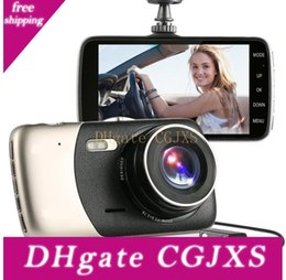 car rear camera lens UK - 4 Inch Front And Rear Dual Lens Driving Recorder Hd 1080p Car Vehicle Dvr Edr Dashcam With G -Sensor Rearview Functions Dash Camera