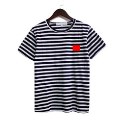 Wholesale black white striped t shirts resale online - 2020 New Mens T Shirts Black White Of The Coin Mens Fashion Stylist women t Shirts Top Couple Short Sleeve S XXL