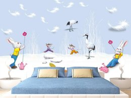 feathers home decor Australia - Custom Size 3D Photo Wallpaper Bed Room Mural Feather Crane Animal 3d Picture Sofa TV Backdrop Home Decor Creative Hotel Study Wallpaper