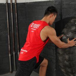 Wholesale sharks tanks for sale – custom Fitness Supplies gym t shirt seamless equipment sharks men muscle bodybuilding undershirt tank tops king online black workout energy golds