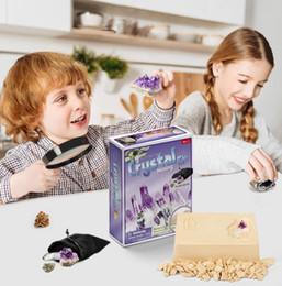 Слепой ящик детей смешной творческий археология кристалл ископаемые раскопки раскопки копая игрушка детские дети DIY ручной модели образования игрушки на Распродаже