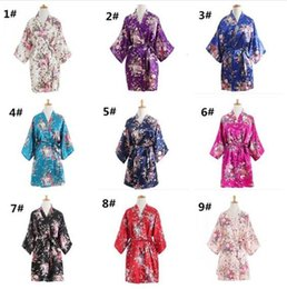 floral print bridesmaids dresses Canada - 100pcs Brides Wedding Sleepwear Casual Bathrobe Women Nightgown Short Floral Dressing Gown Bridal Wedding Bridesmaid M476