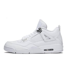 neon sport shoes UK - 4s Iv Mens Basketball Shoes Neon Black Cat Pure Money Bred 4 Cactus Jack Royalty Men Athletic Jumpman Trainers Sports Sneakers Off