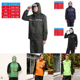 coating battery NZ - PAK16 and coat adult body waterproof Battery and women's battery car split full thickened raincoat men's riding raincoat suit
