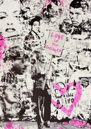 Mr Brainwash Banksy Love is the Answer Home Decor Handpainted &HD Print Oil Painting On Canvas Wall Art Canvas Pictures 200809 on Sale