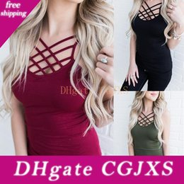 Wholesale lingerie modelling for sale – halloween Suit Dress Sexy Lingerie Vest Camisole Instagram Model Crop Tank Top Cropped Streetwear Regata Sleeveless