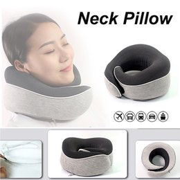 Discount types textiles Travel Pillow Memory Foam Pillow Bib Slow Neck Pillow O Type Foldable Home Decoration Pillows Home Textiles U shape Pill