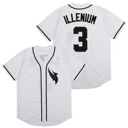 Throwback Jersey personnalisé Illenium Jersey 3 Chanteur Blanc Cousu Version Fashion Diamond Edition Baseball Jerseys Livraison gratuite Y200824