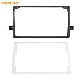 toyota audio adapter NZ - FEELDO Car Audio 9 Inch Big Screen Fascia Frame Adapter For Toyota Prius 2Din DVD Player Dash Fitting Panel Frame Kit #6596