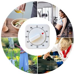 magnetic clocks UK - Mini Mechanical Countdown Kitchen Tool Stainless Steel Round Shape Cooking Time Clock Alarm Magnetic Timer Reminder