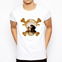 luffy clothing Australia - One Piece T Shirt Brand Men T-shirt Funny Luffy T Shirts Zoro and Nami White O-neck Printed Clothing Mens Anime Top Tee