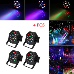 Wholesale 30W 18-RGB LED Auto   Voice Control DMX512 High Brightness Mini Stage Lamp (AC 110-240V) Black *4