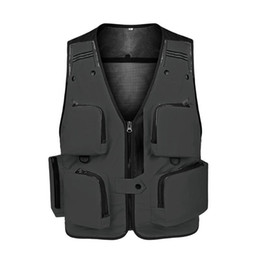Wholesale mens travel jackets for sale – winter Sleeveless Jackets Travel Vest Mesh Mens Workout Photography Fishing Waistcoat Multipockets Outdoor yxlKq xjfshop
