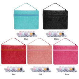 paintings bottles NZ - 84 Bottles PU Leather Diamond Painting Charms Rhinestones Tool Storage Bag Case Organizer Beads Diamond Embroidery Storage Box CX200822